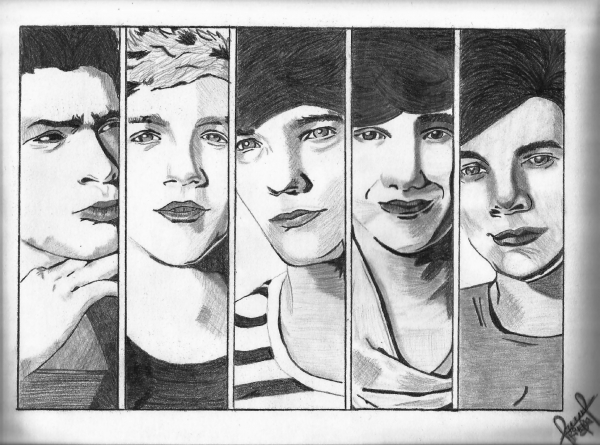 Stars Portraits - Portrait of One Direction by SandraMalik